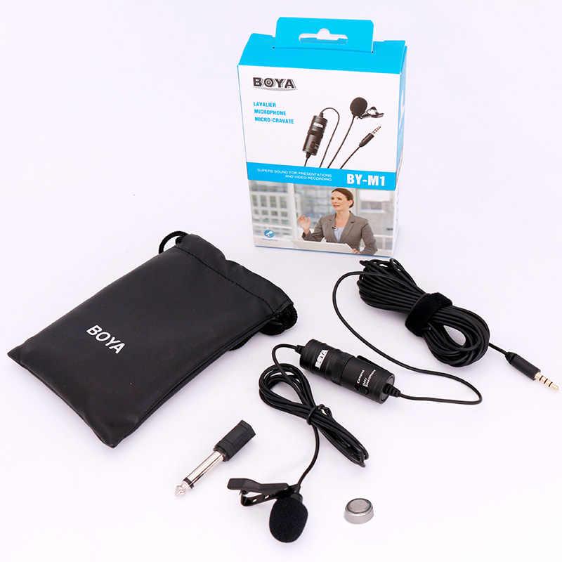 Boya BY-M1 3.5 Mm Lavalier Revers Microfoon Voor Canon Nikon Dslr Camcorders, studio Microfoon Voor Iphone Andriod Telefoon Zoom H1N