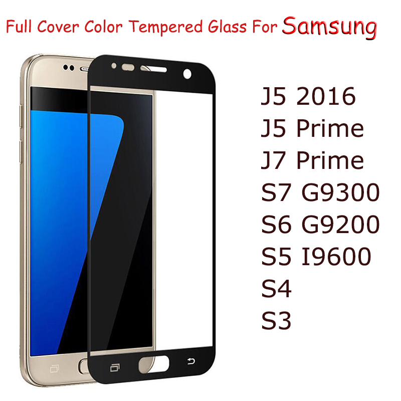 Buy Full Covered Tempered Glass For Samsung Galaxy S7 A5 2017 S6 S5