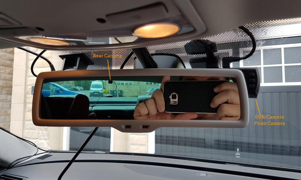 Conkim Mini 0906 Two Camera GPS Car DVR Registrar 1080P Full HD Rear View Camera Capacitor Dual Lens DVR Parking Guard Sensor 29
