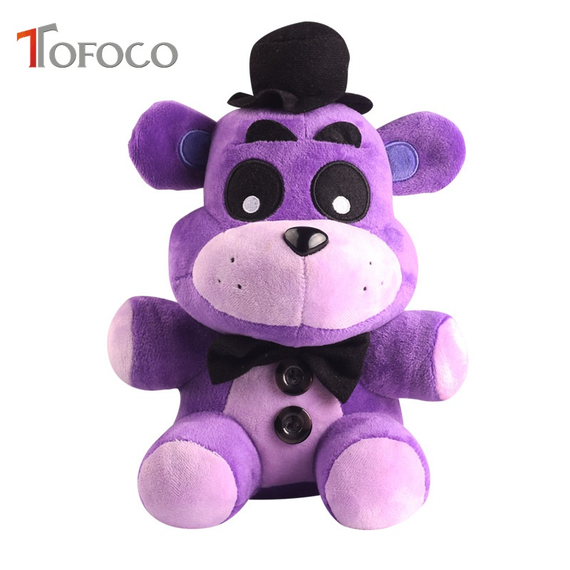TOFOCO Popular Five Nights at Freddy's Toy FNAF Horror Freddy Plush Dolls Animal Game Toys For Kids Golden Purple