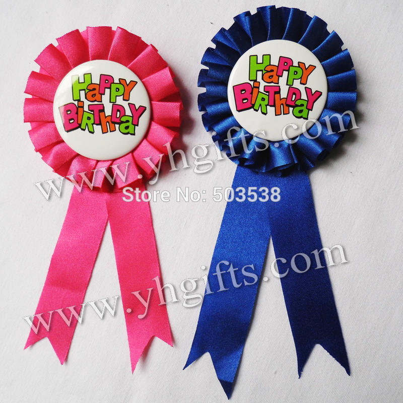1PCLOT,7.2cm(2.8 inch),2 color,Happy birthday brooch,Badge,Fashion pins,Birthday party favor,Birthday gifts.Goody bag,Retail
