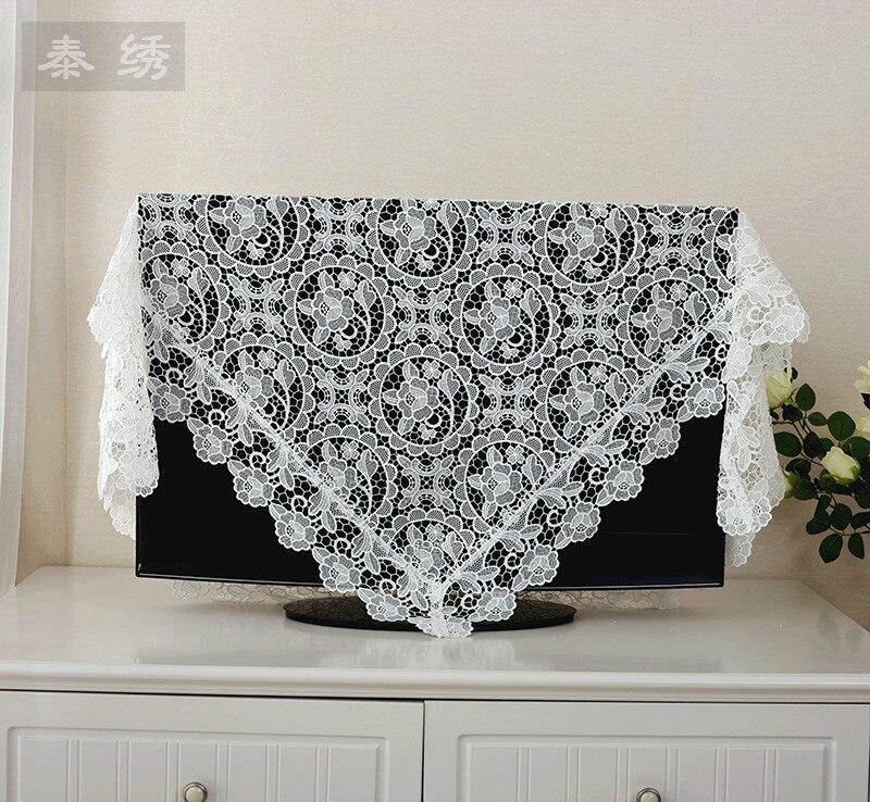 European elegant white design tablecloth cover air conditioner / refrigerator multi-purpose napkin hollowed out sofa cover towel