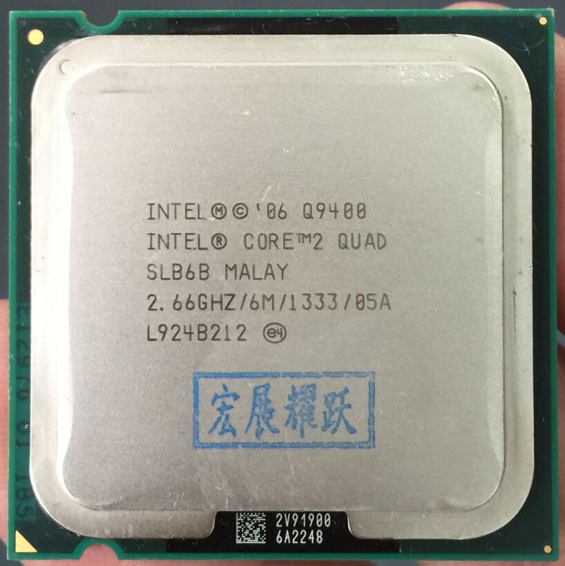 Intel Core2 Quad Processor Q9400 Quad-Core  LGA775 Desktop CPU  100% Working Properly Desktop Processor