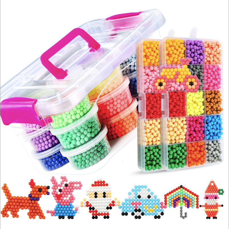 24 Colors Magic Beads Puzzles Water Spray Ball 3D Puzzle DIY Hand-making Educational Toy for Children Gift