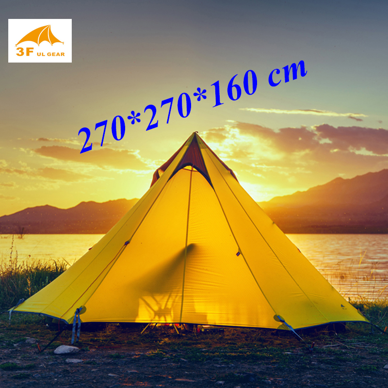 2017 New arrival 2 or 3 persons 15D silnylon big pyramid 3 seasons 2 layer outdoor