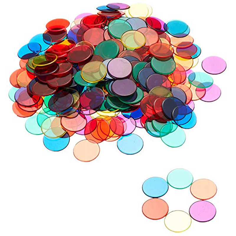 100pcs Learning Different Color Round Plastic Coin Bingo Chip Montessori Learning Education Math Toys Kids Baby Counting Toys