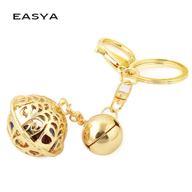 EASYA New Hollow Metal Pendant Keychain Unique Rose Gold