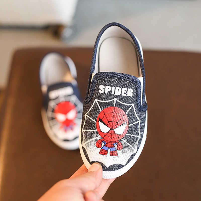 Kinderen Spiderman Schoenen Baby Jongens Meisjes Kids Fashion Zachte Katoen Gevoerde Sneakers Running Sport Schoenen Kinderen Loafers Casual Flats