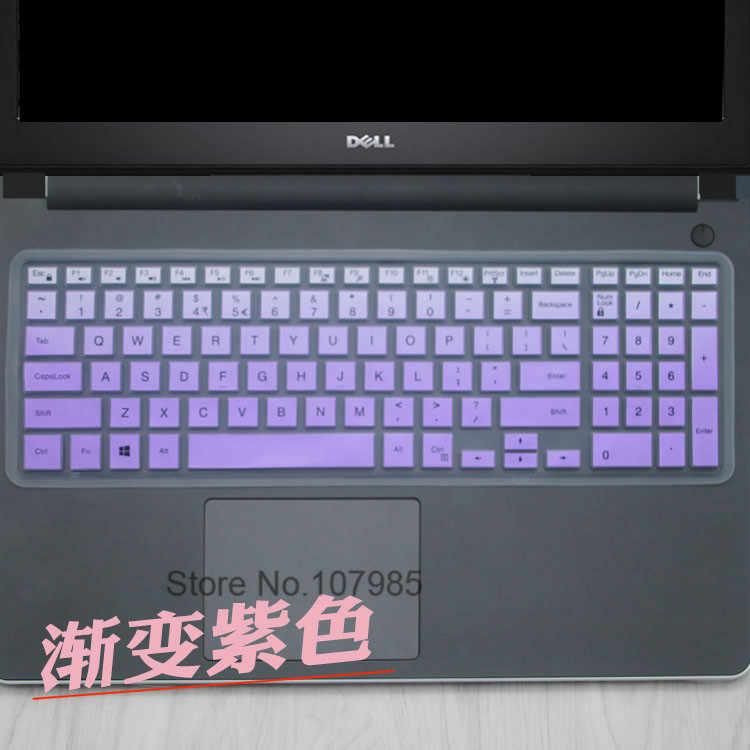 Funda de teclado ultrafina de silicona para ordenador portátil para Dell Inspiron e/ S Latitude E3550 15U-5558 15R-5548 15SR 15SR-1528B