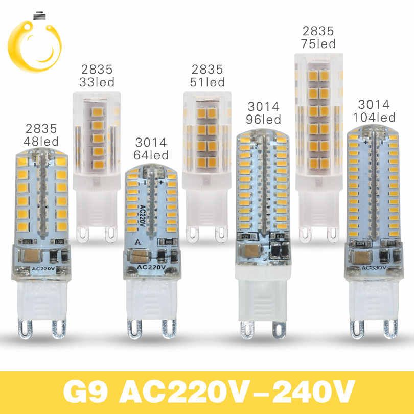 lowest price G9 LED bulb 220V 3W 7W 9W  Corn Bulb 360 degrees Lamp g4 lamp High Quality Chandelier Light Replace Halogen Lamp