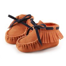 Fashion Newborn Baby Boy Girl Baby Moccasins Soft Shoes fit to First Walkers Bowknot Kids Girl Cack Slip On Shallow Shoes(China)