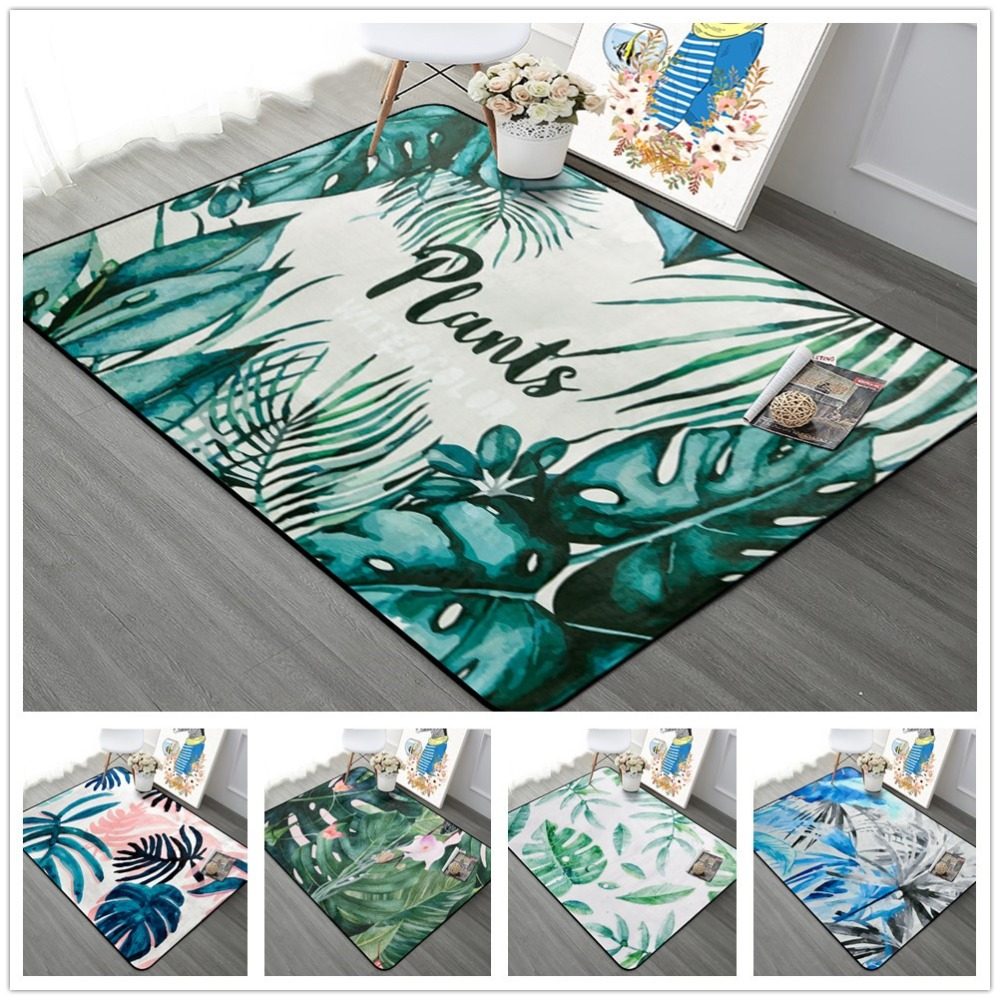 Tropical Plants Leaves Carpets Nordic Pastoral Living Room Bedroom Rugs Anti-slip Coffee Table Floor Area Carpets Home Decor MatTropical Plants Leaves Carpets Nordic Pastoral Living Room Bedroom Rugs Anti-slip Coffee Table Floor Area Carpets Home Decor Mat