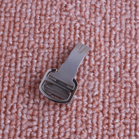 16mm 18mm Silver 316L Stainless Steel Watch Band Buckle Deployment Clasp For Leather Strap Belt