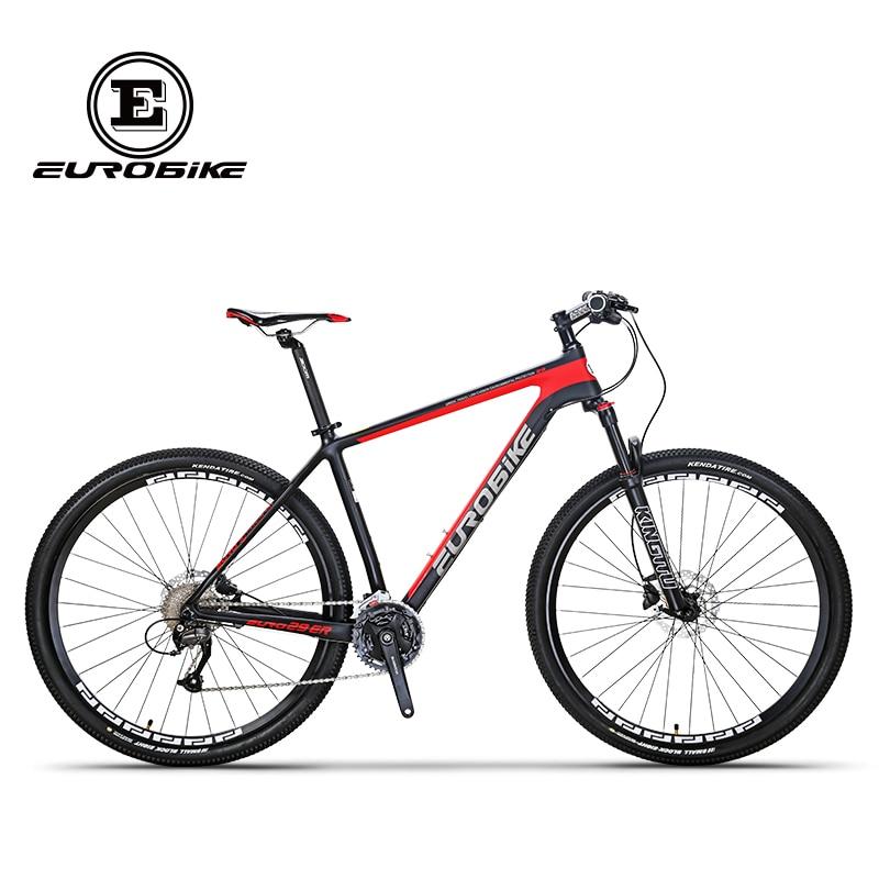 EUROBIKE EUROBIKE 29 Inches Carbon Fiber 27speed MOUTAIN BIKE Double Brake Mens font b BICYCLE b