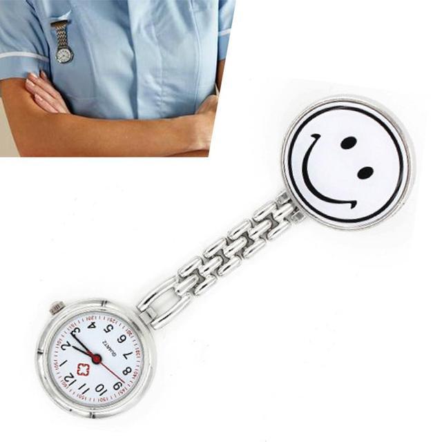 Infermiera Medico Paramedico Colori Smiley Viso Spilla Fob Clip Orologio Timer R