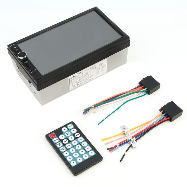 2016 Новый Черный 7 Дюймов Большой Сенсорный Экран HD Bluetooth Car автомобиль DVD FM/MP5 Радио Универсальный Авто Заднего вида Вход для Камеры