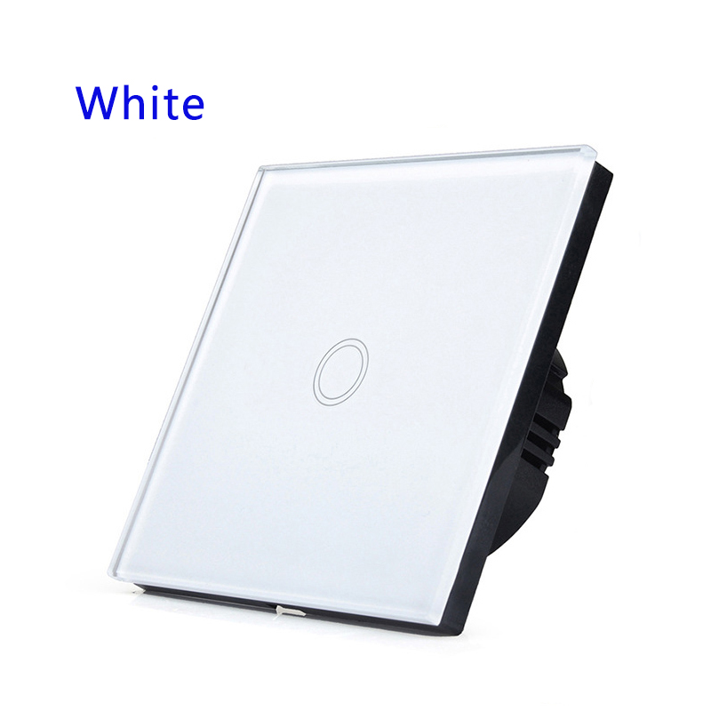 Remote Remote Control Touch Waterproof Crystal Glass Switches Panel 1 Gang 1 Way 433MHz.EU/UK Standard smart home uk standard crystal glass panel wireless remote control 1 gang 1 way wall touch switch screen light switch ac 220v