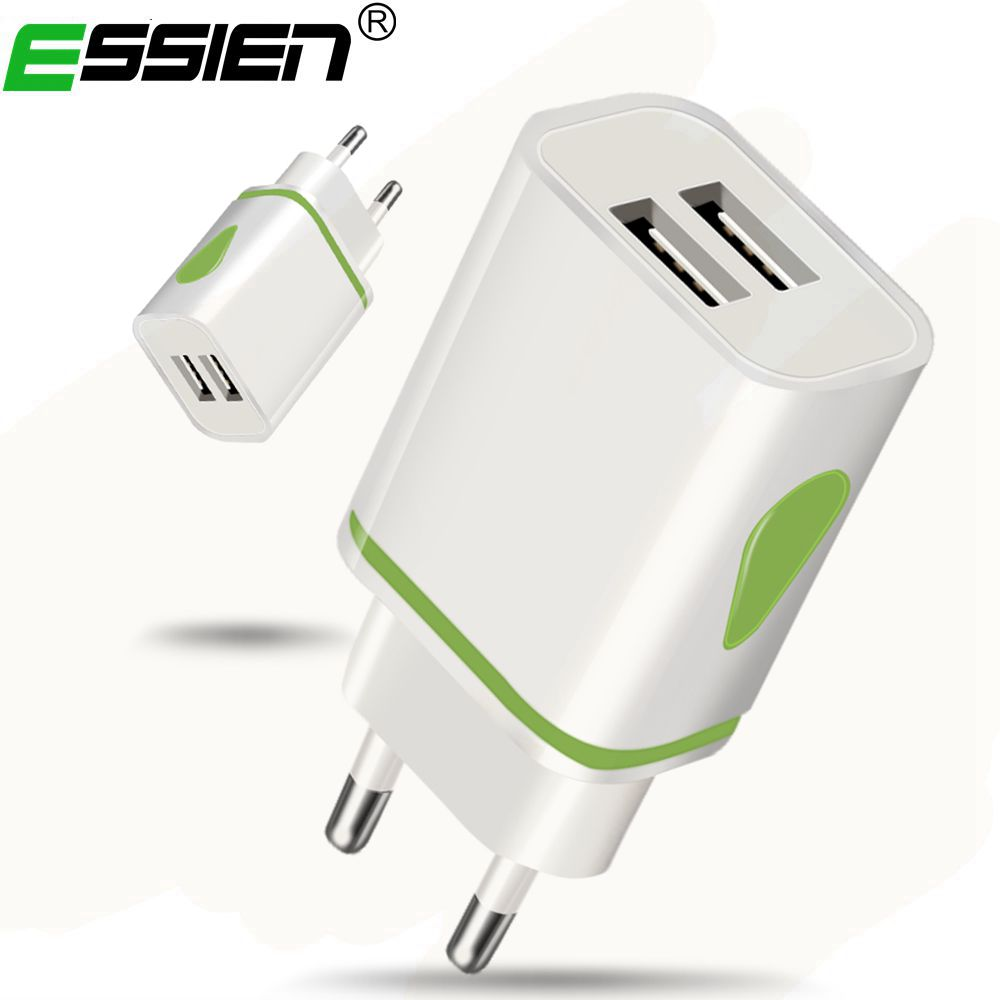 Essien 5V1A 5V2A USB Charger Travel Wall Charger Adapter 5W 10W Portable Smart Mobile Phone Charger EU Plug Multi-Color