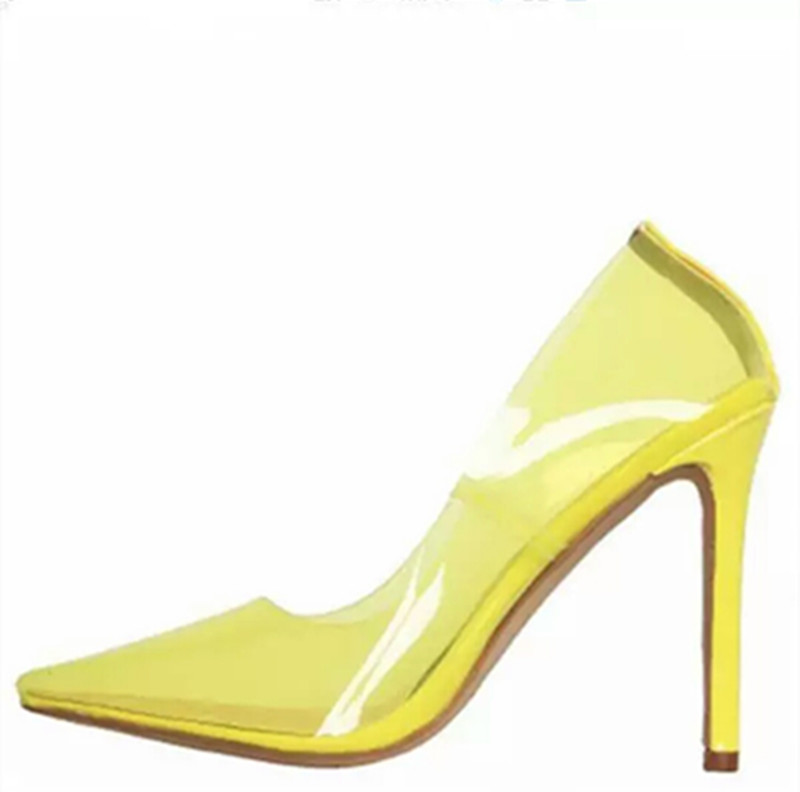 2018 newest Jelly shoes color PVC Transparent shoes women pointed toe sexy pumps high heels pumps shallow party dress shoes2018 newest Jelly shoes color PVC Transparent shoes women pointed toe sexy pumps high heels pumps shallow party dress shoes