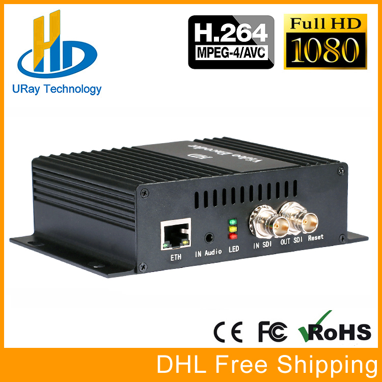 DHL Free Shipping H.264 SD HD 3G SDI To IP Encoder Video Streaming Encoder H264 IPTV Live Streaming RTSP RTMP Encoder