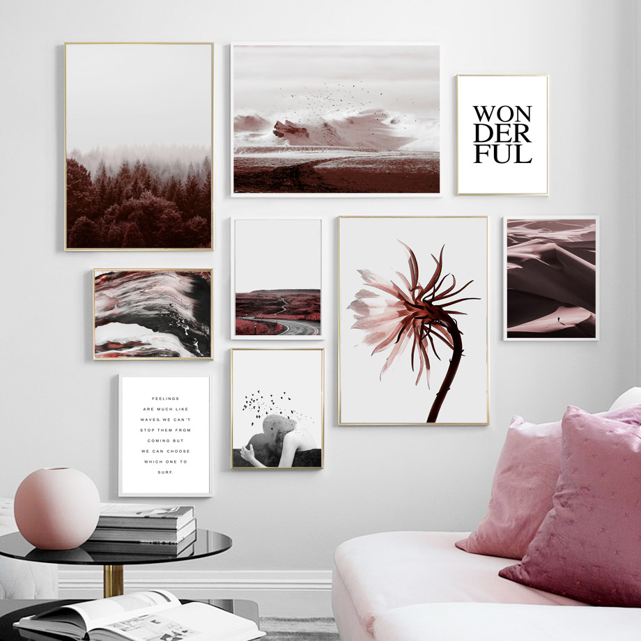 >Modern Pictures Canvas HD Prints <font><b>Prairie</b></font> Scenery Nordic <font><b>Style</b></font> Wall Art Painting <font><b>Home</b></font> Decoration Modular Poster For Living Room