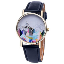 2017 Watch Women PU Leather Analog Quartz Watch Printed Lady Casual Vogue Wristwatch Dress Watches Hour Clock Relogio Feminino