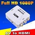 2016 min RCA AV Male to HDMI Female Converter Adapter Full HD 1080P Mini Composite CVBS to HDMI AV2HDMI Audio Converter