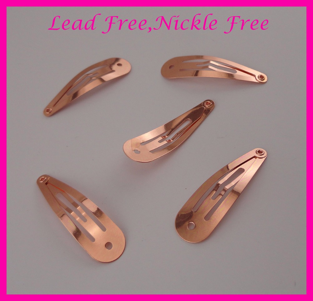 50PCS 5.0cm 2.0 Rose Golden Plain Round Head Metal Snap Clip hairpins with small hole at lead free and nickle free,wholesale 50pcs assorted colors 40mm 1 5 plain round head metal snap clip with cross hook at lead free and nickle free diy hair clips kid