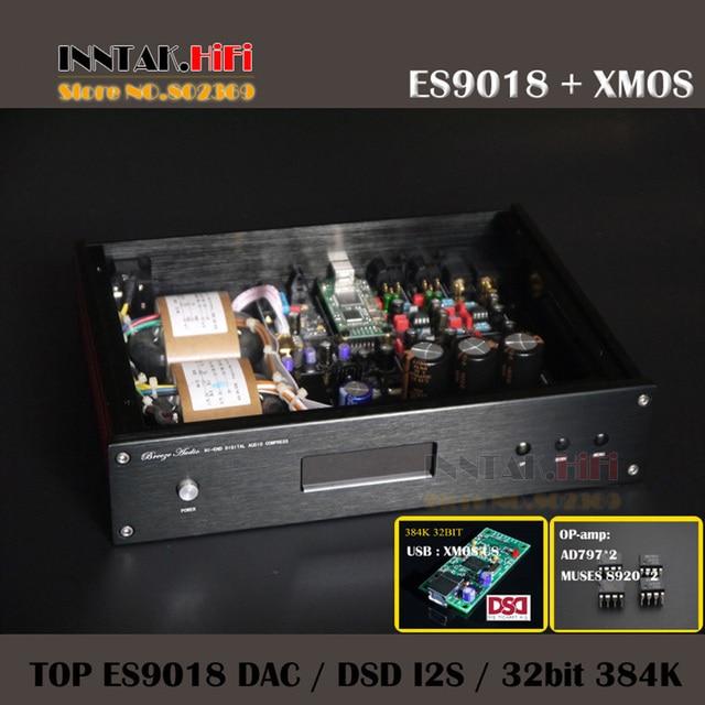 Топ закончил аудио ЦАП ES9018 + XMOS U8 + MUSES8920 * 2 AD797 * 2 ОУ + tcox 0.1PPM цап поддержка 32bit 384 К