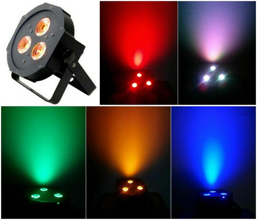 ФОТО 10pcs/lot, DMX Light Slim LED Par 3x15W RGBAW 5in1 Flat par36 DJ bar led light dmx stage entertainment lighting equipment