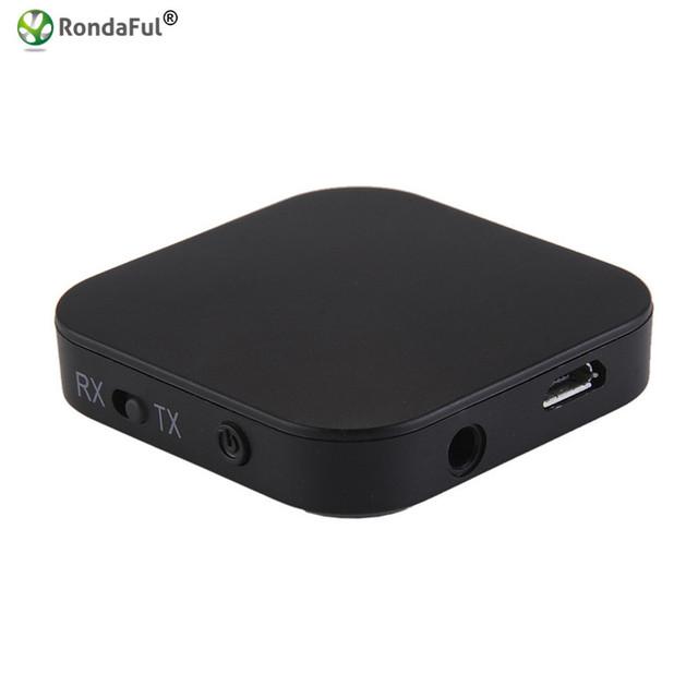 De Audio portátil 2 en 1 Transmisor y Receptor 3.5mm Adaptador de Audio Inalámbrico Bluetooth para Auriculares TV PC Phone MP3/Mp4