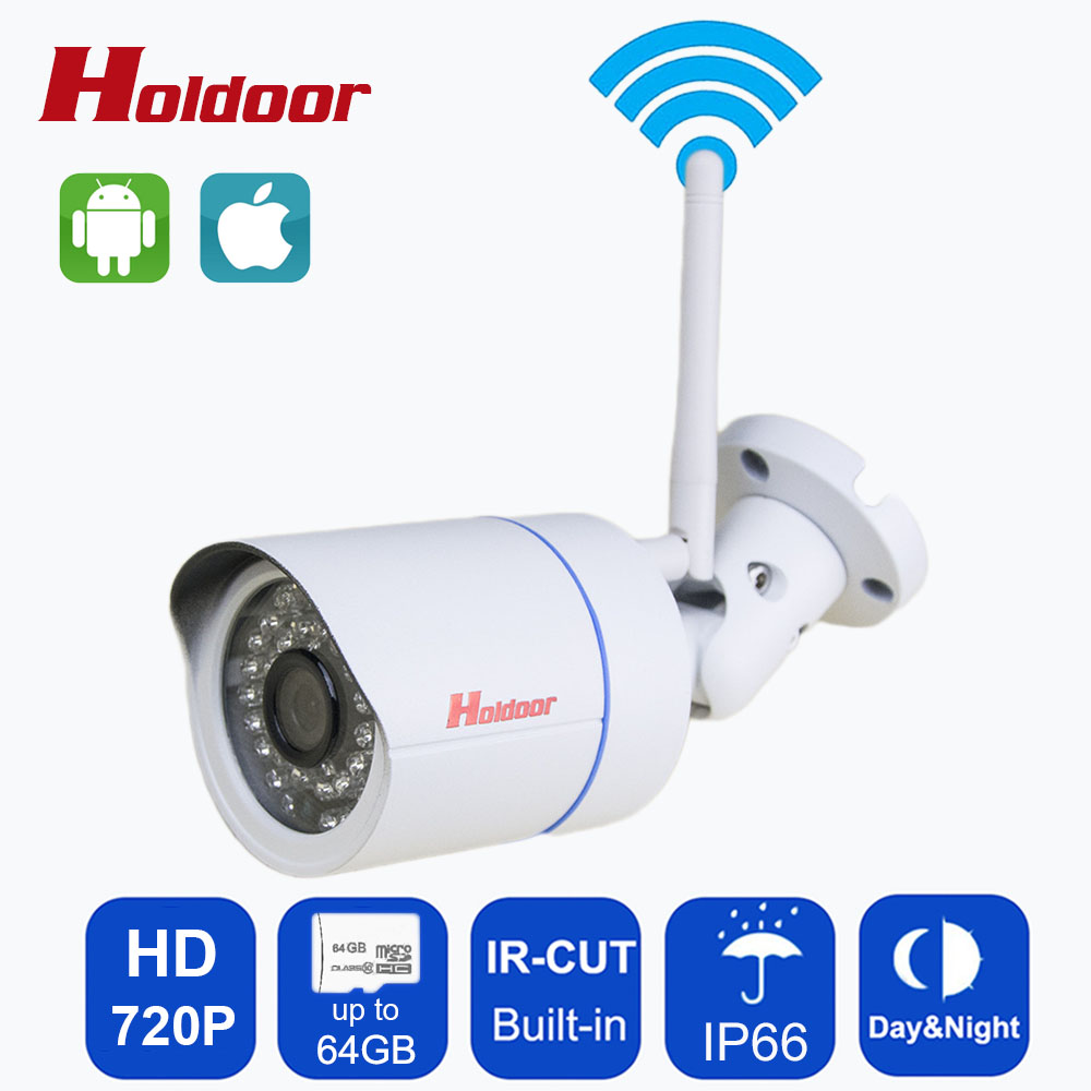 Onvif IP camera WIFI Megapixel 720P 1080P HD Outdoor Wireless Security CCTV Cam Infrared SD Card Slot P2P Bullet Camera With IR- wifi wired security ip camera 1080p 2 0mp onvif p2p ir cut motion detection with sd card remote viewing bullet cctv security cam