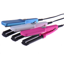 2016 New Fast hair curler Styling Appropriate Three Barrel Waver Curling Tongs Curler Beauty Makeup Crimper Electric Hair Curler