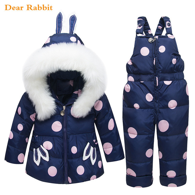 cfaa15c995ab Aliexpress.com   Buy Girls Children Clothing Sets Warm Winter Down ...