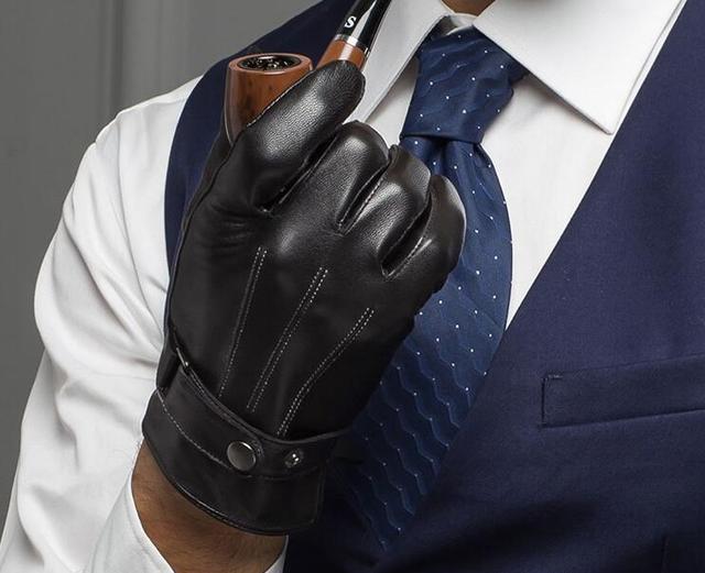 28092a881028e8 Oryginalne rękawice skórzane męskie jakości zamszowe rękawiczki zimowe  rękawice termiczne męskie b12