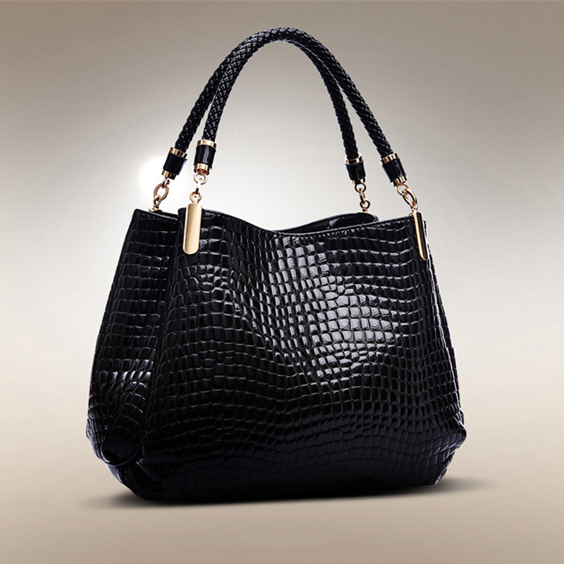 3colors Socialite women handbag crocodile pattern shoulder bags women messenger bags women leather handbags bag red black bule
