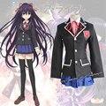 Japanese Anime Date A Live Tokisaki Kurumi Cosplay Costume School Girls Uniform Dress Set