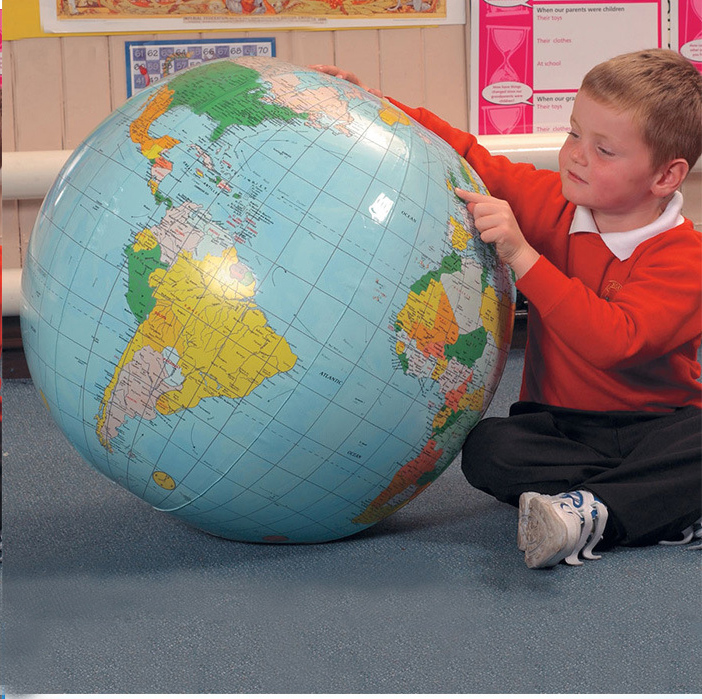 40CM Inflatable World Globe Teach Education Geography Toy Map Balloon Beach Ball
