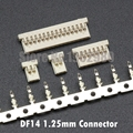 50 Set DF14 Connector 1.25mm Pitch Housing with Terminals 4/5/6/7/10/14/15/20/25/30P Replacement of HRS DF14 Series