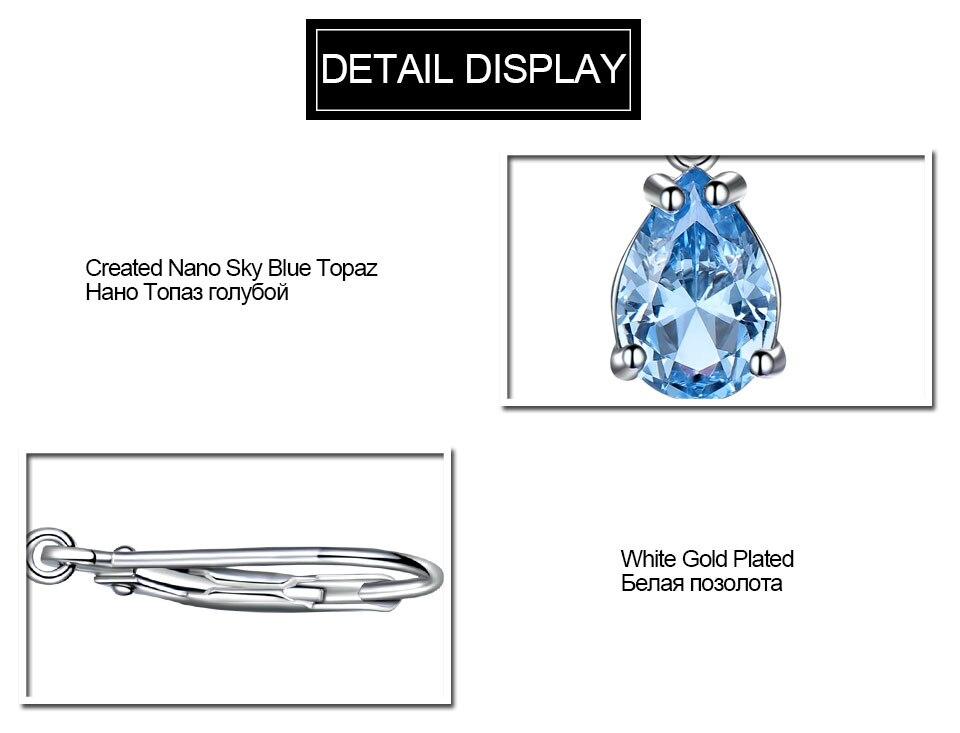 HTB1r2o.tLiSBuNkSnhJq6zDcpXaq UMCHO Solid 925 Sterling Silver Clip Earrings For Women Sky Blue Topaz Gemstone Wedding Fashion Fine Jewelry Valentine's Gift