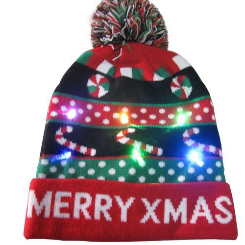 Г., 43 дизайна, светодиодный Рождественский головной убор, Шапка-бини, Рождественский Санта-светильник, вязаная шапка для детей и взрослых, для рождественской вечеринки - Цвет: 14