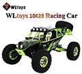 HOT WLtoys 10428 RC Car 2.4G Escala 1:10 Velocidade Dupla Remoto rádio controle elétrico selvagem trilha guerreiro carro monster truck rc toys