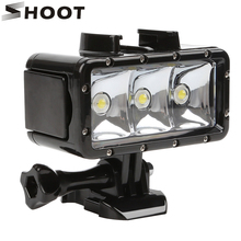 تبادل لاطلاق النار ل GoPro LED تحت الماء الغوص الإضاءة ملء في الفيديو الضوئي مصباح ل GoPro بطل 8 7 6 5 الأسود شاومي يي 4K Sjcam اكسسوارات