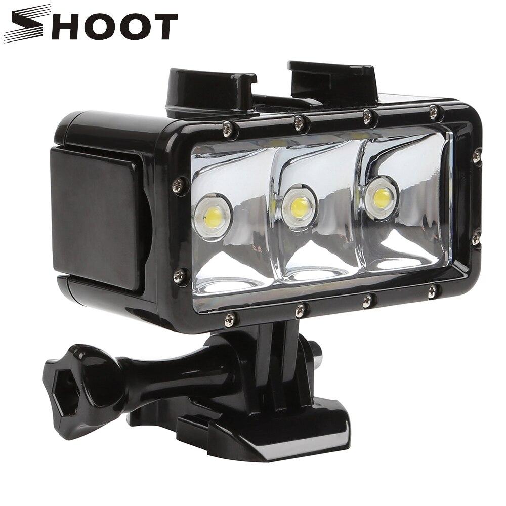Hero Yi Pour Accessoires Lampe Éclairage Noir Led Lumière 5 4k Tirer Xiaomi Sous Remplir Vidéo 7 6 Sjcam Plongée Gopro De Marine 5ARj3Lq4