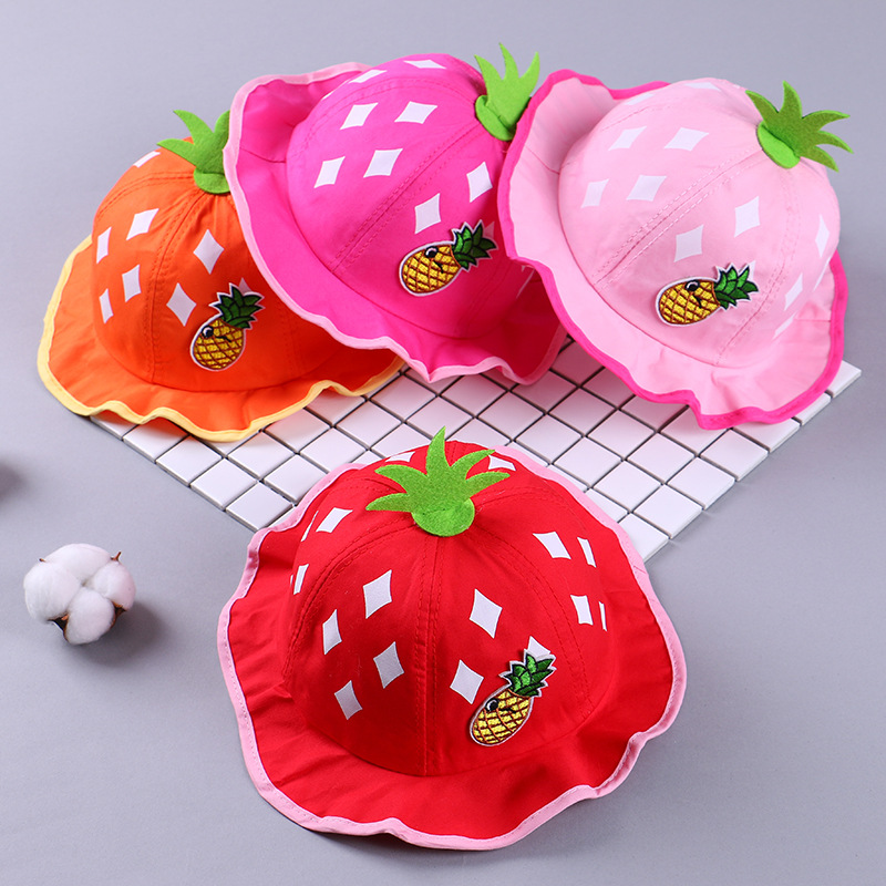 Audacious 18-36 Monthes Lovely Baby Children Hat For Pineapple Summer Beach Style Kids Outdoor Bucket Hat Summer Hats For Kids To Rank First Among Similar Products