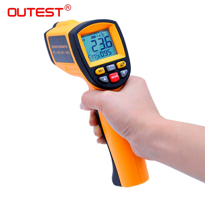 OUTEST GM1150 Non-Contact Laser LCD Display Digital IR Infrared Thermometer Temperature Meter Gun Point -50~1150C(-58~2102F) an550 laser lcd digital ir infrared thermometer temperature meter gun 50 500c 58 1022f non contact temperature meter gun