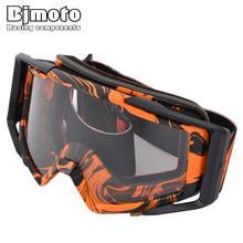 BJMOTO NEW Motocross Goggles Cross Country Skis Snowboard ATV Mask Oculos Gafas Motorcycle Helmet MX Goggles Spectacles