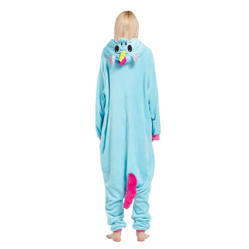 eebe480d € 16.2 |Ultra bajos precios adultos animal sleepsuit pijamas traje Cosplay  onesie unicornio rosa azul pijamas Monos Mamelucos en Disfraces anime ...