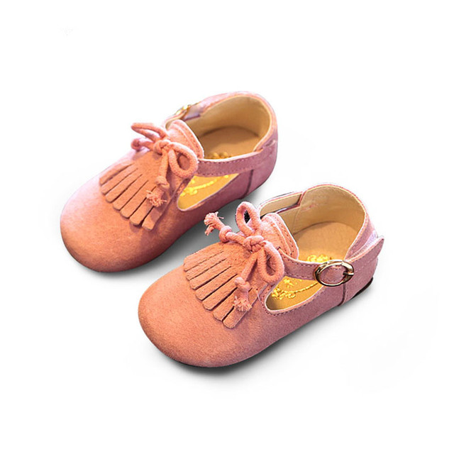 2017 new autumn baby girls fringe shoes for children genuine leather shoes kids brand dance shoes toddler tassel shoes
