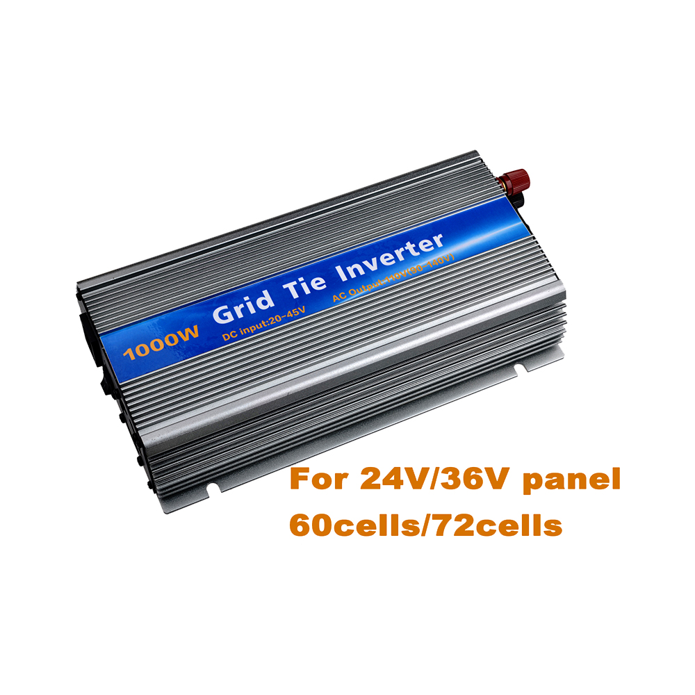 Grid Tie Inverter 1000W DC20V-45V to AC110V Pure Sine Wave Inverter with MPPT Function for 18V/36cells Solar Panel Send from USA 1500w grid tie power inverter 110v pure sine wave dc to ac solar power inverter mppt function 45v to 90v input high quality